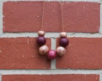 "Clay Necklace in ""Copper Caspia"""