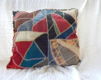 Patchwork quilt pillows