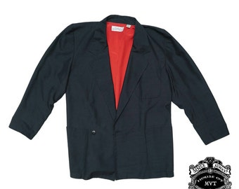 Ellen Tracy black 100% silk blazer
