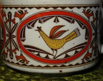 Pair of Stoneware Crocks withHandles / Soup Crocks / Soup Bowls