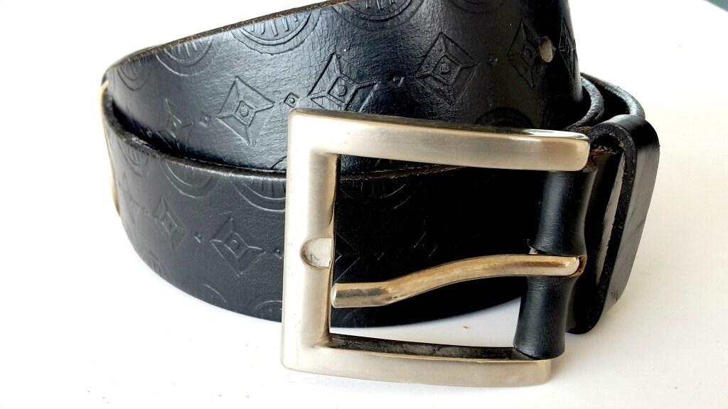 leather belt in black mens leather belt wide leather belt