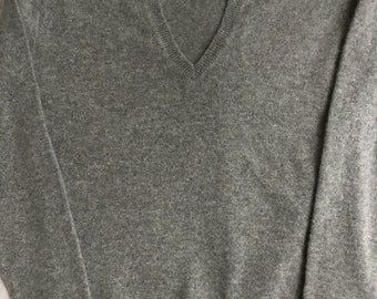 Light Grey 100% cashmere  sweater upcycled XS by Three Whiskers Farm