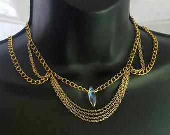 Gold Choker, Necklace, Choker, Silver Necklace, Bib Necklace, Statement Choker, Chokers