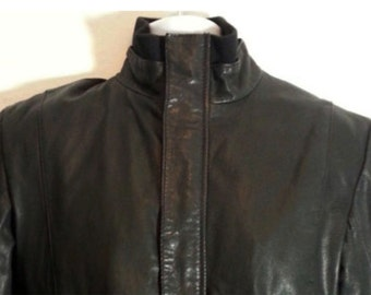 FRENCH CONNECTION Black Leather Jacket Men's Size S