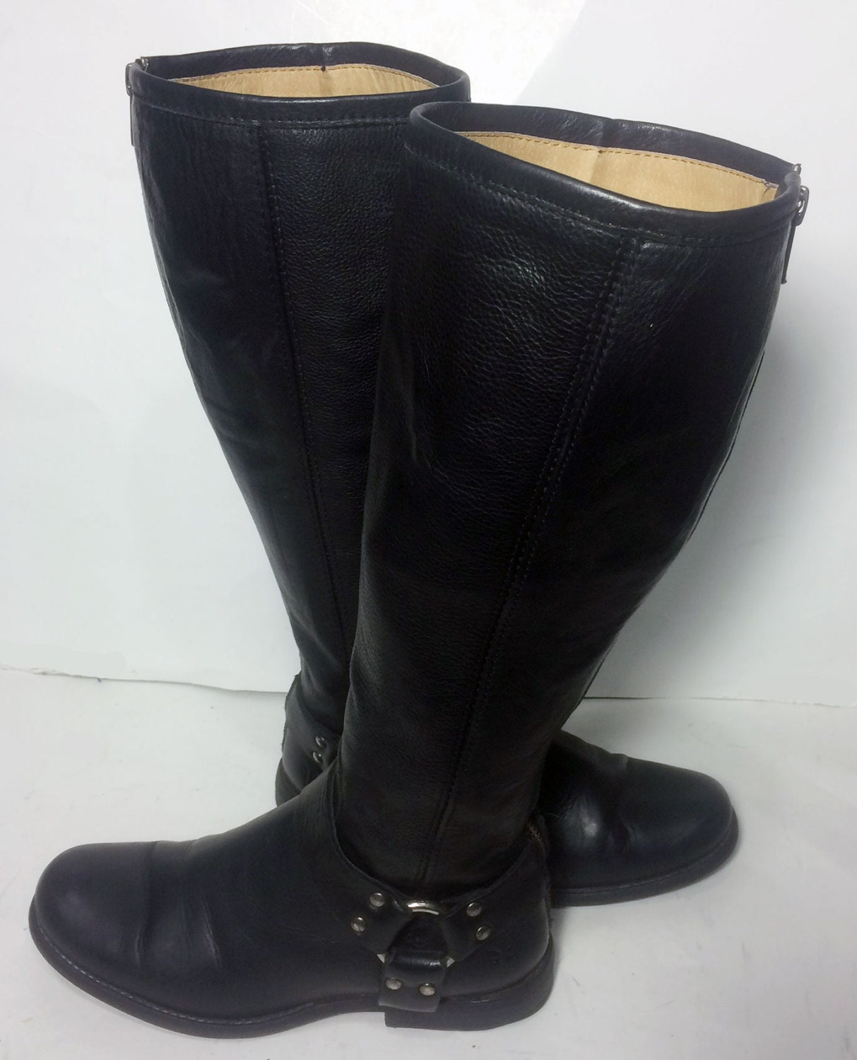frye 76851 phillip harness black leather boots