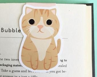 Orange Tabby Cat Magnetic Bookmark (Jumbo)