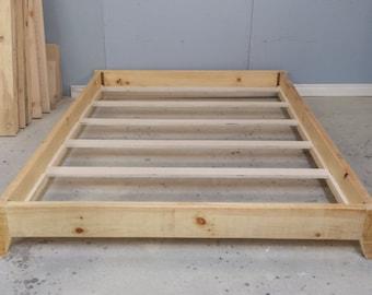 Platform Wood Frame / Double Size Platform Bed / Barn Wood Bed Frame / Modern Bed Frame