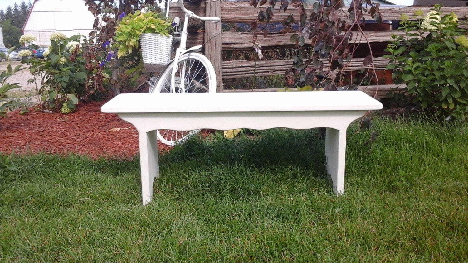French Provincial Bench Cottage Bench White Bench