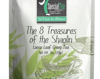 3 oz. The 8 Treasures of The Shaolin Green Tea with Free Tea Infuser