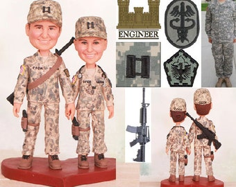 Army Ranger Topper - Personalised wedding cake topper -  (Free shipping)