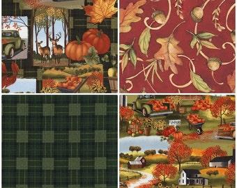 Pumpkin Patch Harvest Time Cotton Fabric! [Choose Your Cut Size]