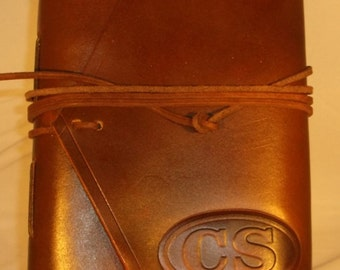 Handmade Leather Journal Civil War CS Confederate Badge Made in the USA