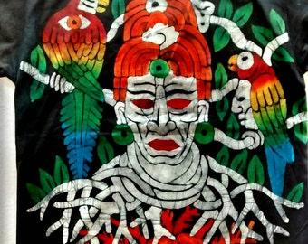 Mayan  Aztec Forest Ruler T-shirt black