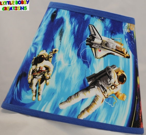 Space ships shuttle fabric lamp shade 10 sizes to choose for Space shuttle fabric