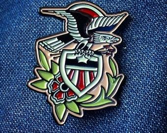 American Eagle Shield Pin
