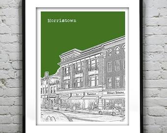 Morristown New Jersey Poster Print Art NJ