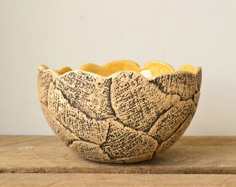 Handmade Textured Patterned Bowl