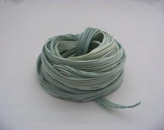 Light Sage Green Silk Shibori Ribbon 4658
