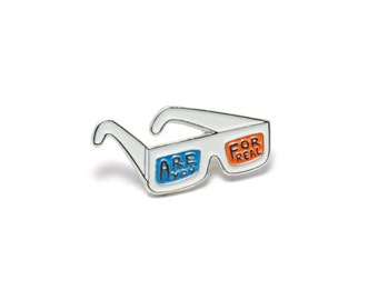 3D Glasses Enamel Pin