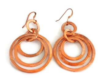 Copper Rings Earrings Tsalagi Cherokee Made