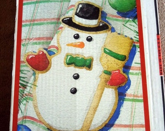 Superstone Snowman mold by Sassafras 1995 Cookie Mold