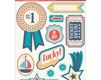 Carta Bella Layered Stickers - Rough&Tumble