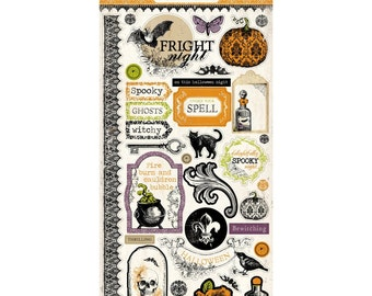 Echo Park Arsenic & Lace Chipboard Stickers