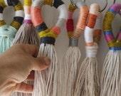Yarn wrapped tassels