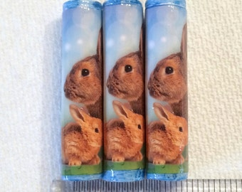 Easter Bunny Paper Beads Beads Artisan Handmade Beads for Pens and other Beadable Products