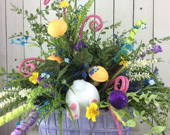 Easter Centerpiece, Easter floral arrangement, Easter Table Arrangement, Easter decor, Easter decor for Table,Spring Centerpiece,bunny Booty