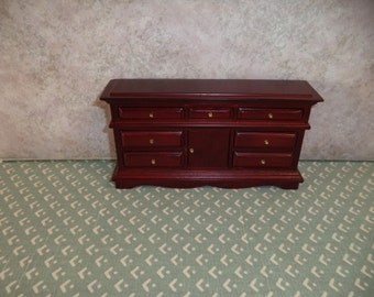1:12 scale Miniature Dollhouse Dresser ( Cherry color)