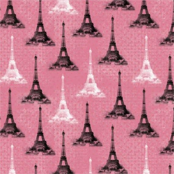 As Creation Pink Paris Pattern Eiffel Tower Childrens: Eiffel Tower Fabric France Fabric Pink Paris Fabric Pink