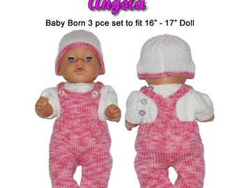 ANGELA To fit 19-22 inch Reborn doll or 0-3 month baby (pattern only)