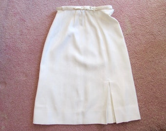 "Vintage White Skirt by ""Sporteens"" Ca 1950"