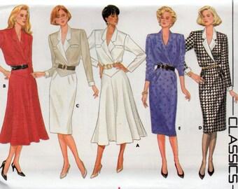 Vintage 1986 Butterick Classics Pattern 4193 DRESSES Misses 14 16 18