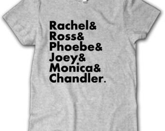 Friends Favorites List-Rachel, Ross, Phoebe, Joey, Monica, Chandler, tv show, Friends Fan Shirt