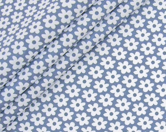 Cotton flowers grey white 12mm