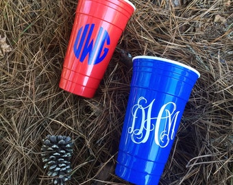 Monogrammed Solo Cups