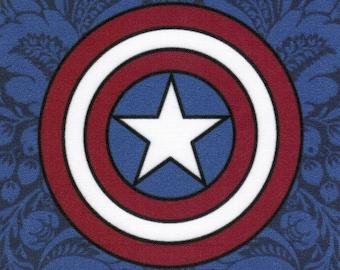 Captain America Logo: Marvel Comics fabric print