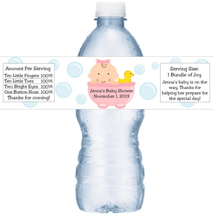 21 baby shower water bottle labels