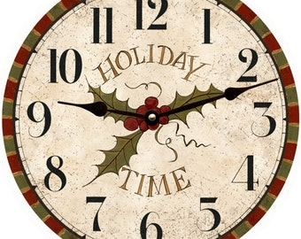 Holiday Wall Clock/Christmas Clock
