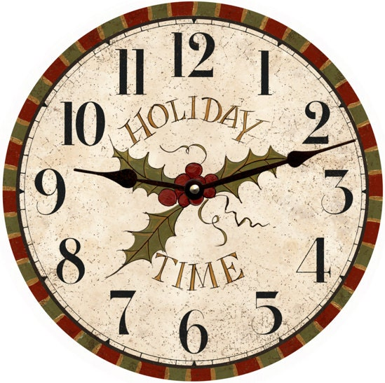 Holiday wall clock christmas