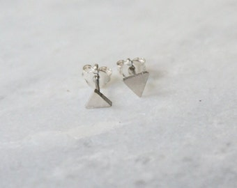 SHORT SHAPES - stud earrings - sterling silver - by STICKTAILS