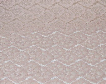Blush Sabrina Floral Stretch Lace Fabric Wedding, Bridal, Decoration and DIY Fabric - 1 Yard Style 648