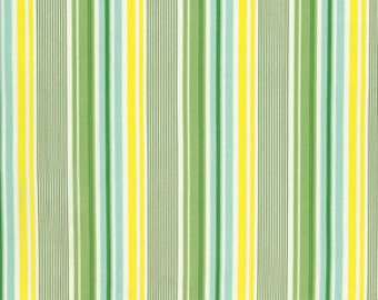 END OF BOLT Slim Dandy, Nicey Jane, Green Stripe, Heather Bailey #HB16, 23""