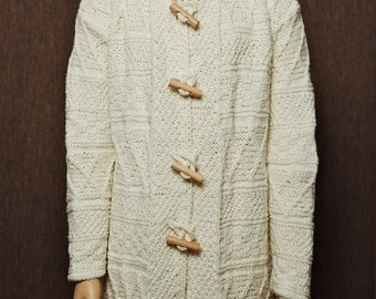 Hand-made knitted kids coat