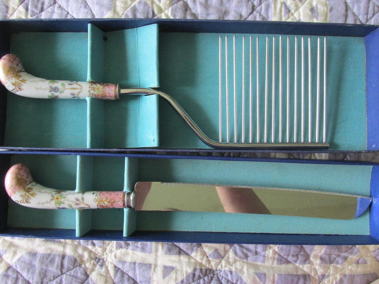 Original Box Sheffield Stainless Cake Knife Amp Breaker