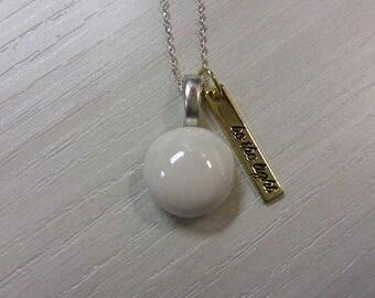 "Necklace ""be light""."