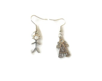 Boy-Girl Earrings