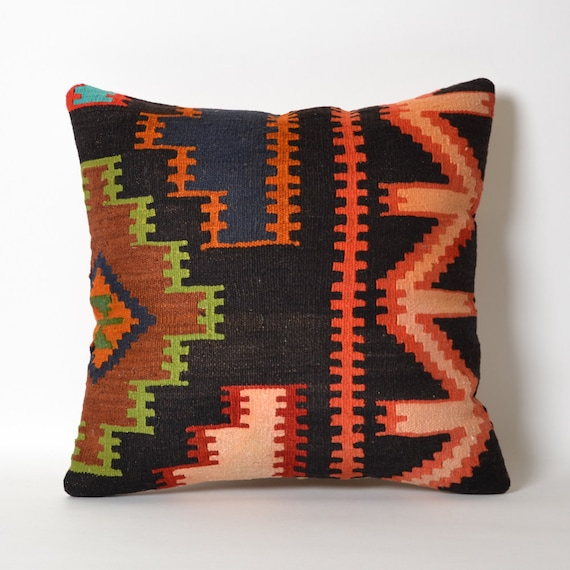 Hippie Floor Pillows : Floor Throw Kilim Pillow Cover Boho Pillow Rustic Tribal